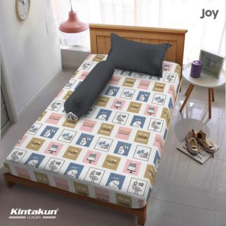 Sprei Single Kintakun Luxury Super Soft Microfiber (5in1) tinggi 30 cm - Joy