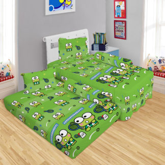 Sprei Single 2in1 Lady Rose Sorong Motif keroppi Tennis