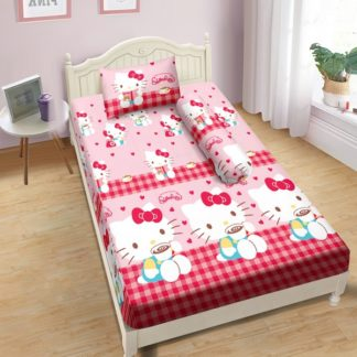 Sprei Lady Rose 120x200 Single terlaris Kitty Cappucino