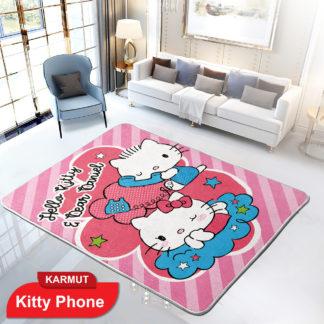 Karmut Terlaris - Karpet Selimut Internal Lady Rose Motif ANAK Uk 150x200 cm - KITTY PHONE
