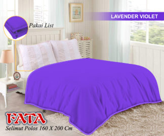 Selimut Fata Terbaru Polos Lembut Uk 160x200 - Lavender Violet