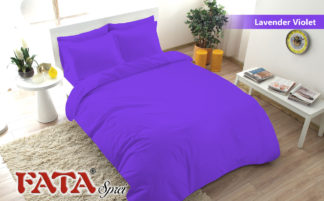 Bed Cover FATA Single Polos Embosed - Lavender Violet