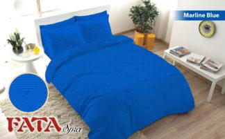 Sprei Fata King Ukuran 180x200 Polos Embosed - Marline Blue