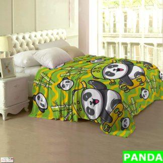 Selimut Lady Rose Terlaris bulu halus uk 160x200 motif Panda