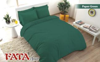 Sprei Fata King Ukuran 180x200 Polos Embosed - Paper Green