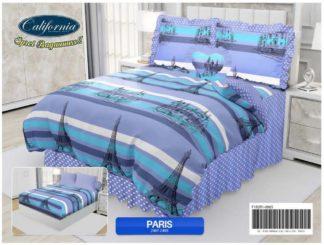 Sprei Rumbai King California motif Paris