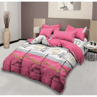 Bed Cover King Set Lady Rose Motif Parisian
