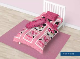 Bed Cover Single California 120x200 Motif Pink Minnie