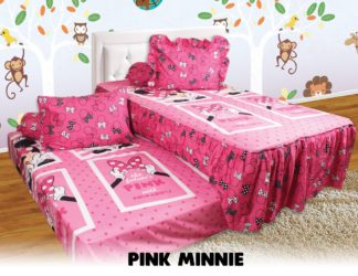 Sprei Single 2in1 California Sorong - Pink Minnie
