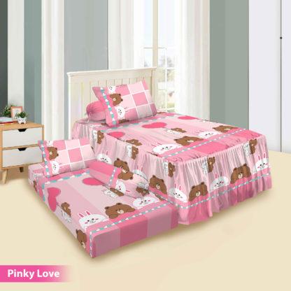 Sprei Single 2in1 Vito Rosanna Sorong - Pinky Love