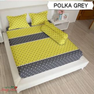Sprei Lady Rose 180x200 King terlaris Polka Grey