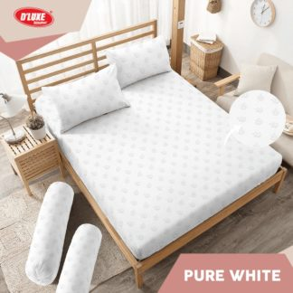 Sprei B4 King Kintakun Polos Embosed Deluxe / D'luxe Pure White