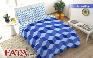 Sprei Queen FATA Signature Puzzle Blue