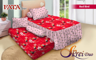 Sprei Single 2in1 terbaru FATA Red Bird
