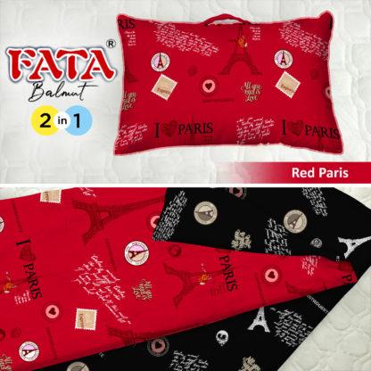 Balmut / Bantal selimut FATA Motif Red Paris
