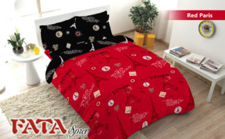 Sprei King FATA Signature Red Paris