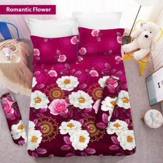 Sprei 3D King NEW VITO motif Romantic Flower