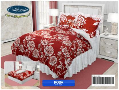 Sprei Rumbai King California motif Rosa