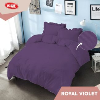 Bed Cover King 180x200 Tinggi 30 Kintakun Embosed 3D D'luxe - Royal Violet