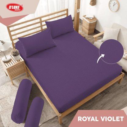 Sprei King Kintakun Polos Embosed Deluxe / D'luxe Royal Violet
