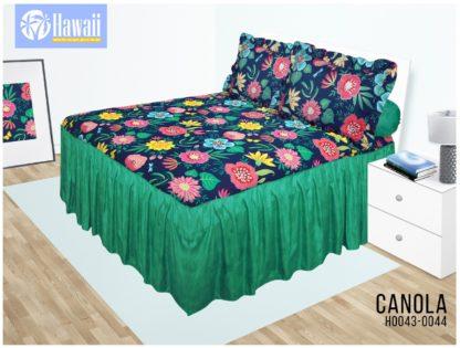 Sprei Rumbai HAWAI King 180x200 terlaris motif Canola