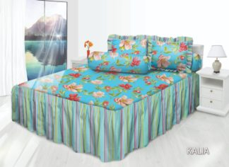 Sprei RUMBAI All New My Love King 180x200cm (Panjang rumbai 50 cm) - Kalia