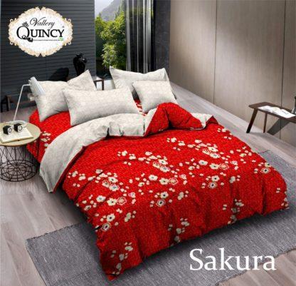 Sprei King T.30 Vallery Jacguard motif Sakura