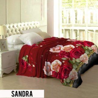 Selimut Lady Rose Terlaris bulu halus uk 160x200 motif Sandra