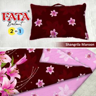 Balmut / Bantal selimut FATA Motif Shangrila Maroon