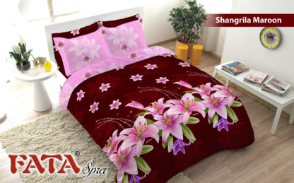 Bed Cover King FATA Shangrila Maroon