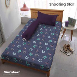 Sprei Single Kintakun Luxury Super Soft Microfiber (5in1) tinggi 30 cm - Shooting Star