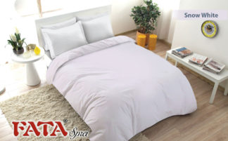 Sprei Fata King Ukuran 180x200 Polos Embosed - Snow White