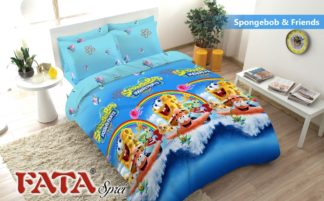 Sprei Queen FATA Signature Spongebob & Friends