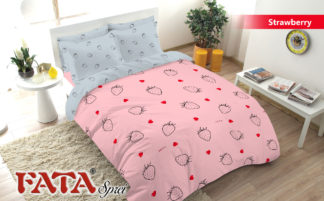 Bed Cover King FATA Strawberry
