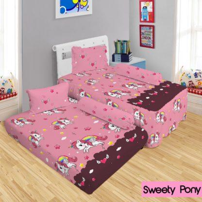 Lady Rose - Sprei 2in1 Lady Rose Sorong Motif Sweet Pony