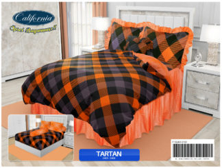 Sprei Rumbai King California motif Tartan