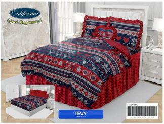 Bed Cover California Ukuran King Set motif Tevy