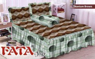 FATA - Sprei Rumbai King terlaris Brown Titanium