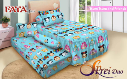 Sprei Single 2in1 terbaru FATA Tsum-tsum And Friends