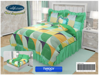 Sprei Rumbai King California motif Twiggy