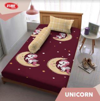 Sprei Kintakun Single 120x200 Tinggi 30 Spesial 3D D'luxe - Unicorn