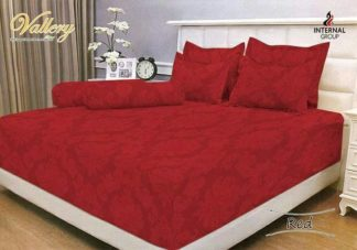 Sprei 200x200 Extra King T.30 Vallery Jacquard / motif Red
