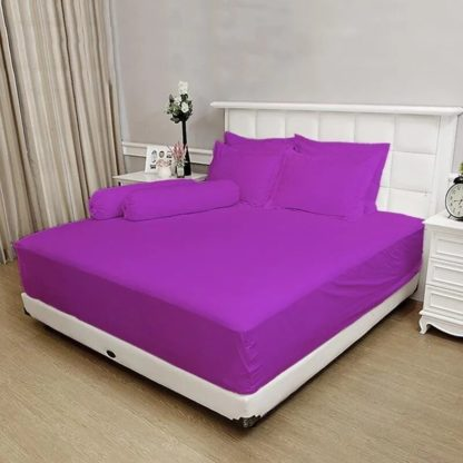 Sprei King T.30 Vallery Jacguard motif Light Purple