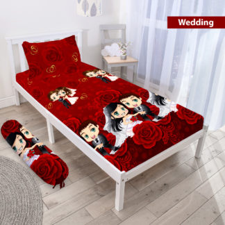 Sprei 3D Single NEW VITO motif Wedding