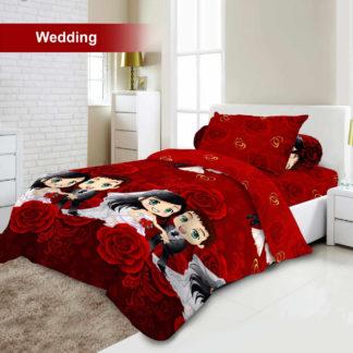 Bed Cover Set 3D King NEW VITO motif Wedding
