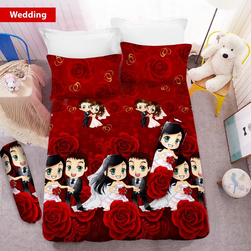 Sprei 3D King NEW VITO motif Wedding