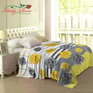 Selimut Lady Rose Terlaris bulu halus uk 160x200 motif Yellow Rose/Tessa