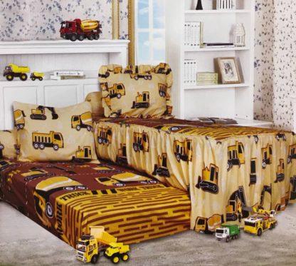 Sprei Single 2in1 California Sorong - Yellow Truck