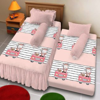 Sprei Single 2in1 Kintakun Deluxe Sorong Motif Zirafa